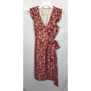 Kate Spade 100% Silk Brush Stroke Print Dress 0